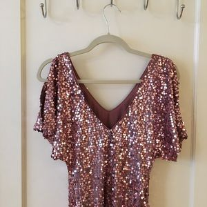 As U Wish Dresses - As U Wish blush sequin dress